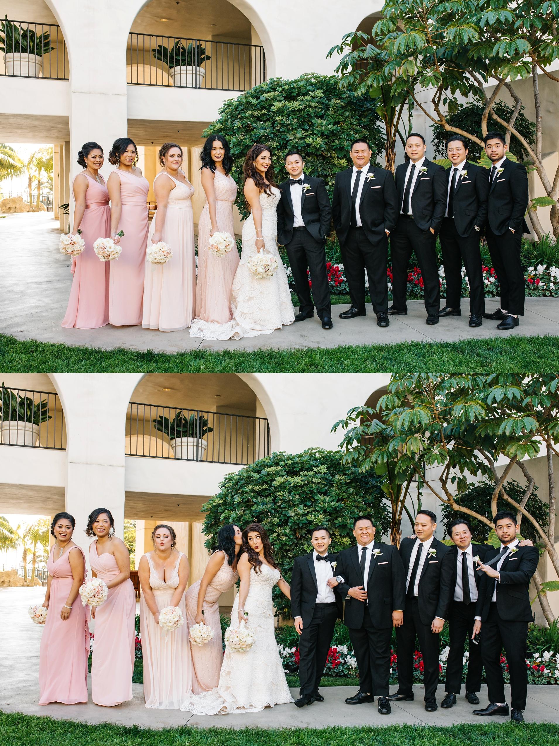 Bridal Party Photos in Huntington Beach, CA