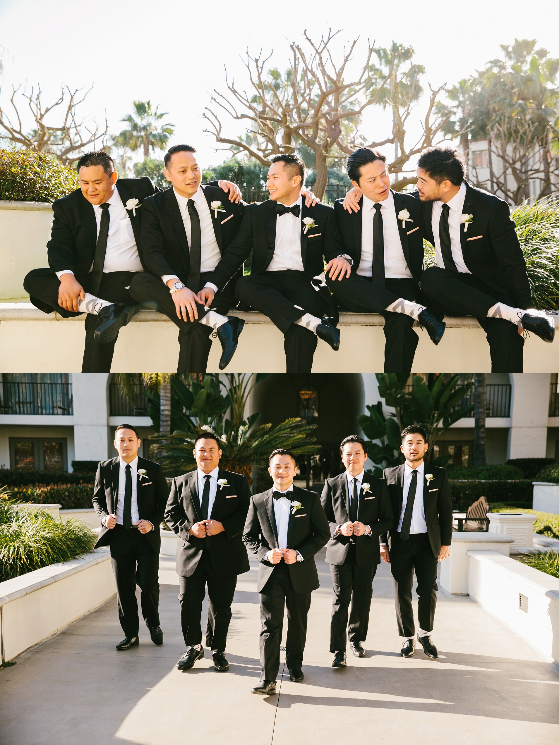 Groom and Groomsmen Bridal Party Photos