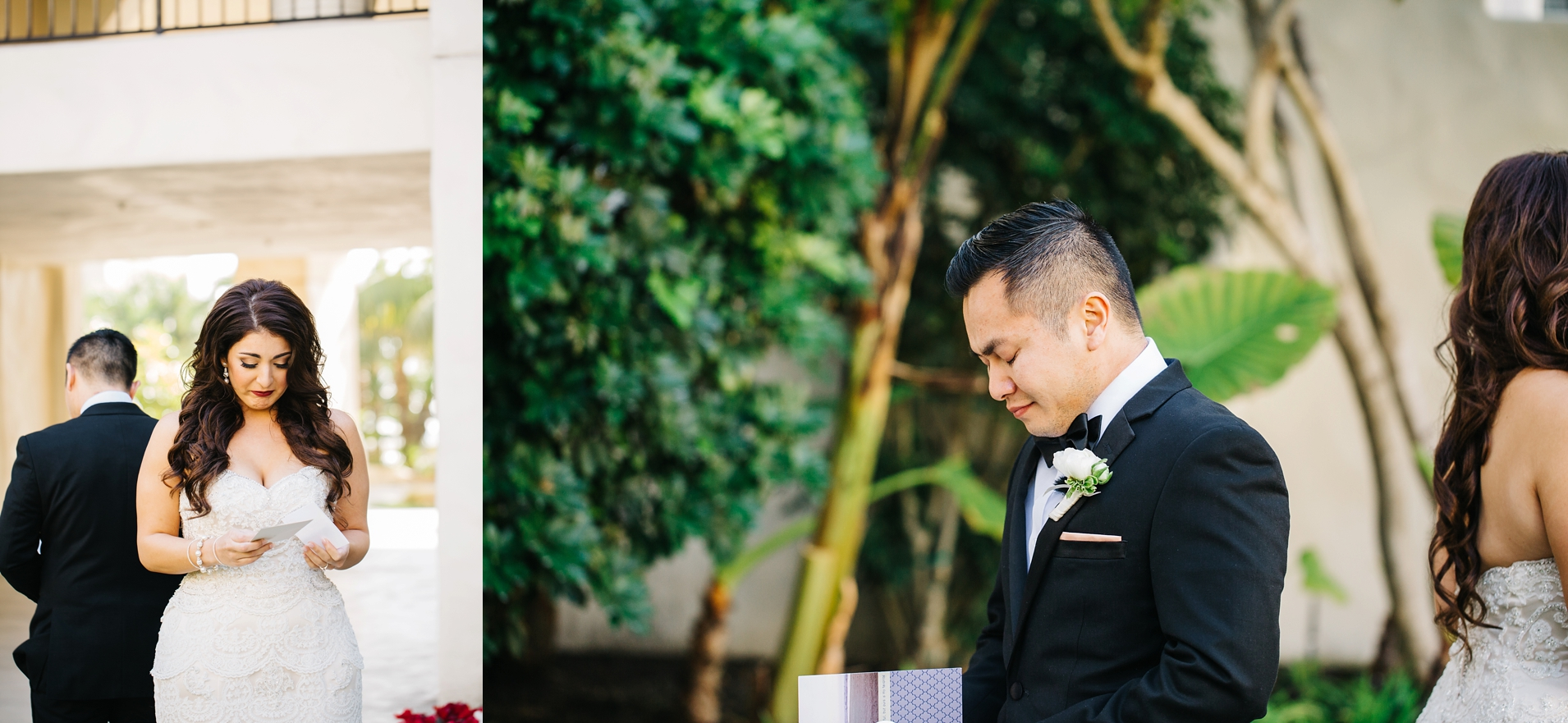 Bride and Groom First Look in Southern California - Brittney Hannon Photography
