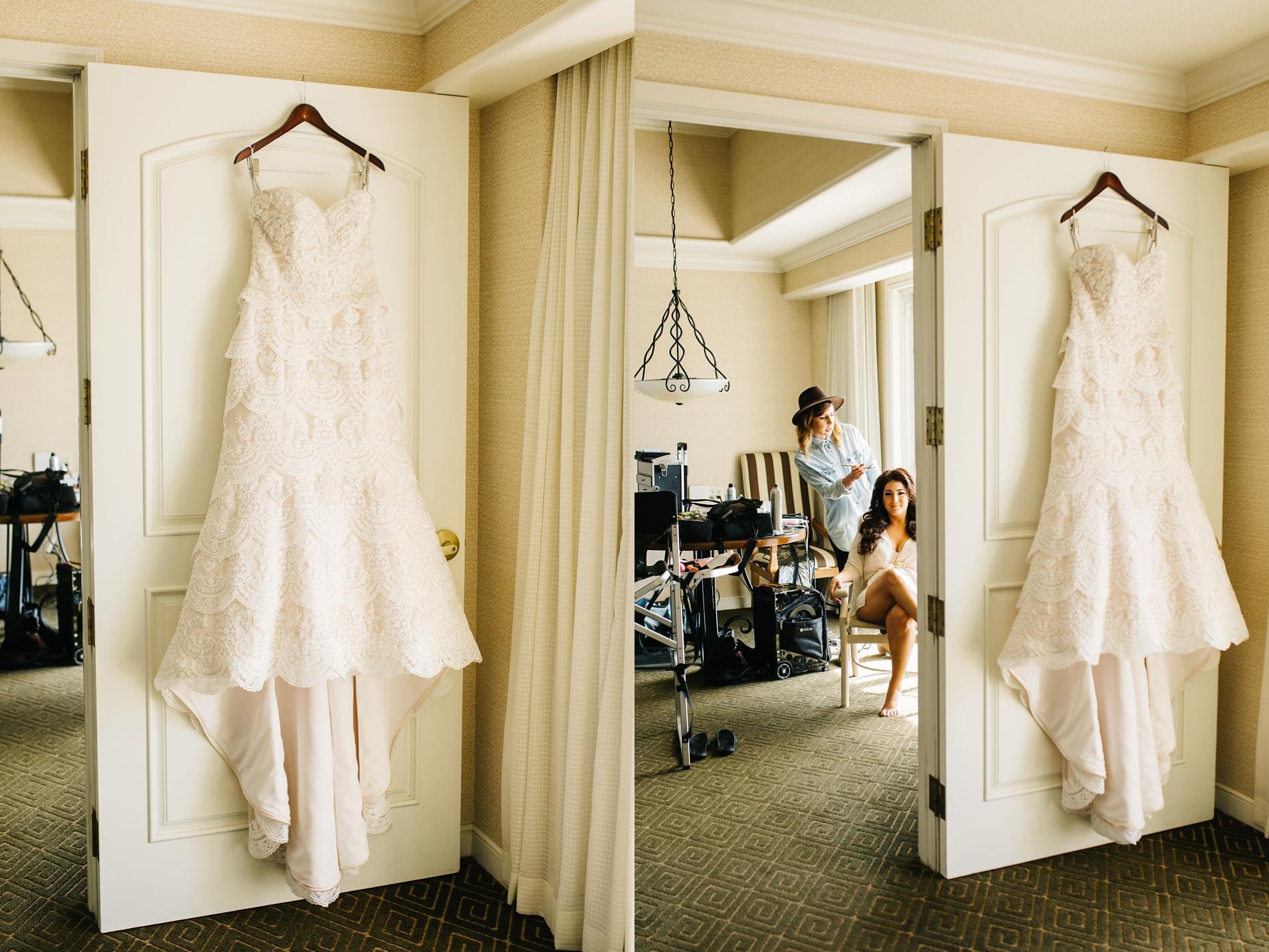 Huntington Beach Wedding - Wedding Dress - Brittney Hannon Photography