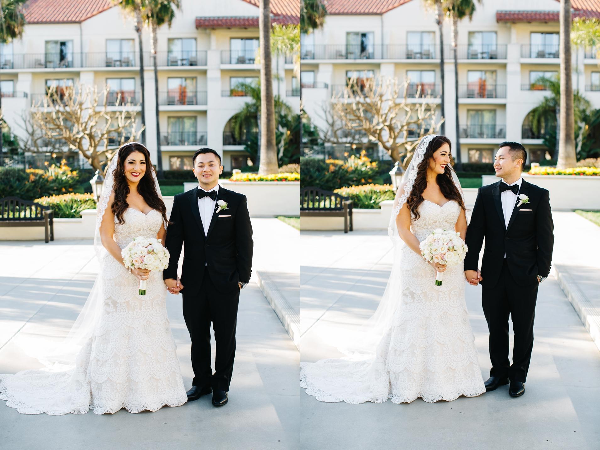 Romantic Bride and Groom Photos - Orange County Wedding Photographer