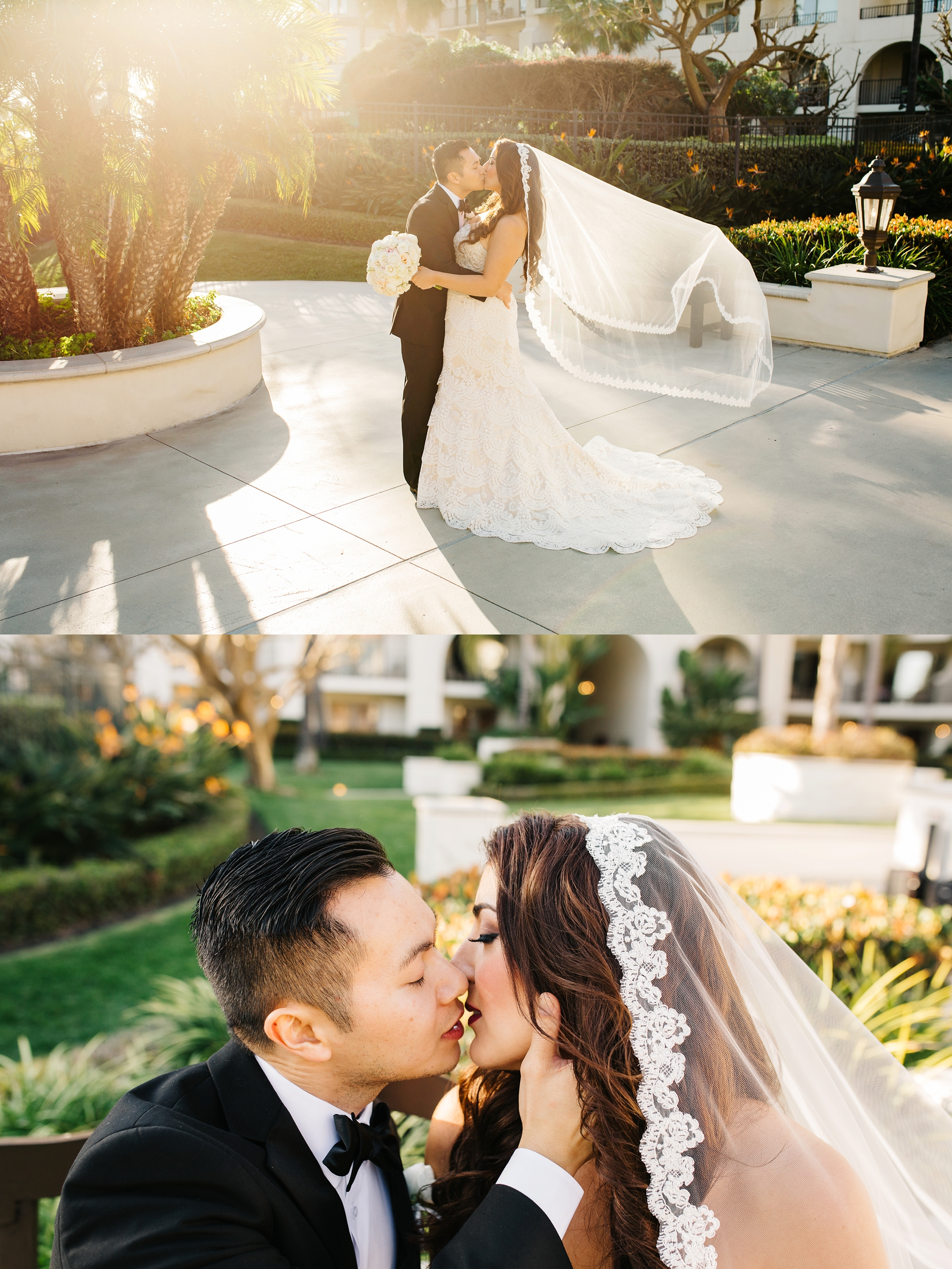 Sunset Bride and Groom Pictures-Huntington Beach Wedding-OC Wedding Photographer