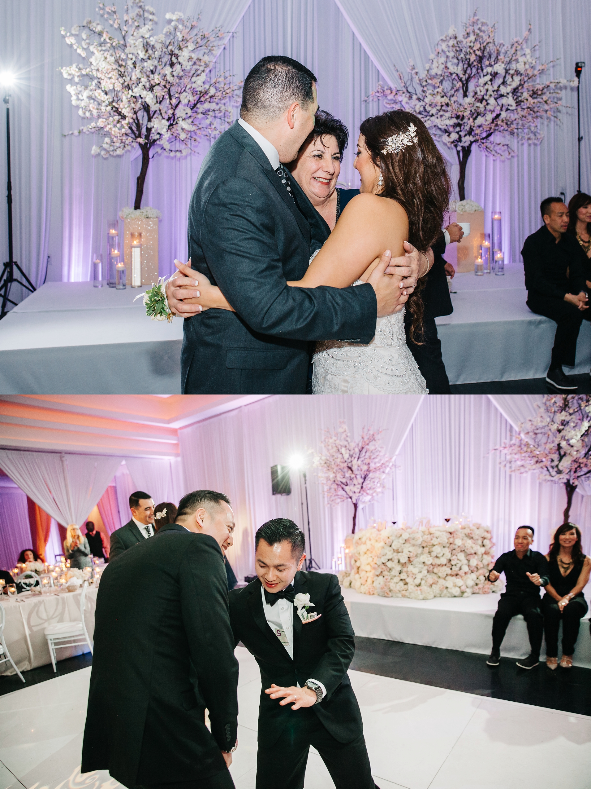 Wedding Reception by Brittney Hannon Photography at Venue by Three Petals Wedding in Huntington Beach, CA