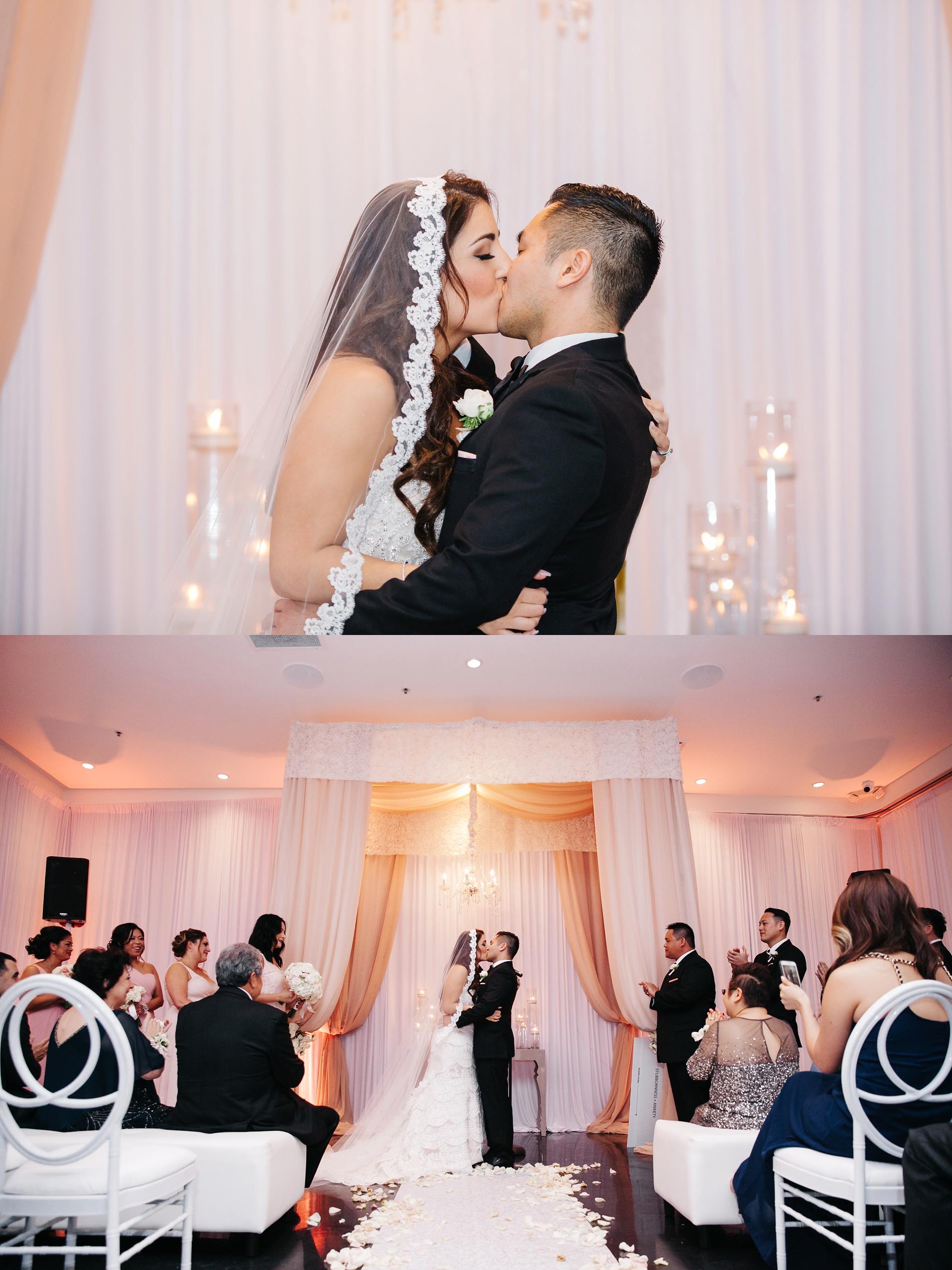 Wedding Ceremony Photos at Venue by Three Petals Wedding by Brittney Hannon Photography