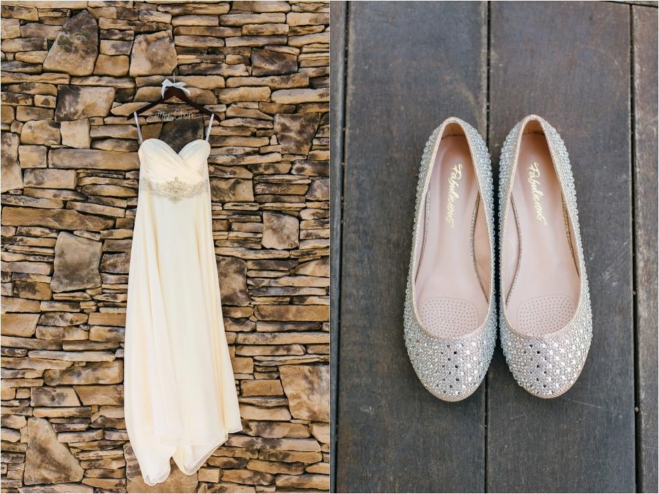 Wedding dress and wedding shoes