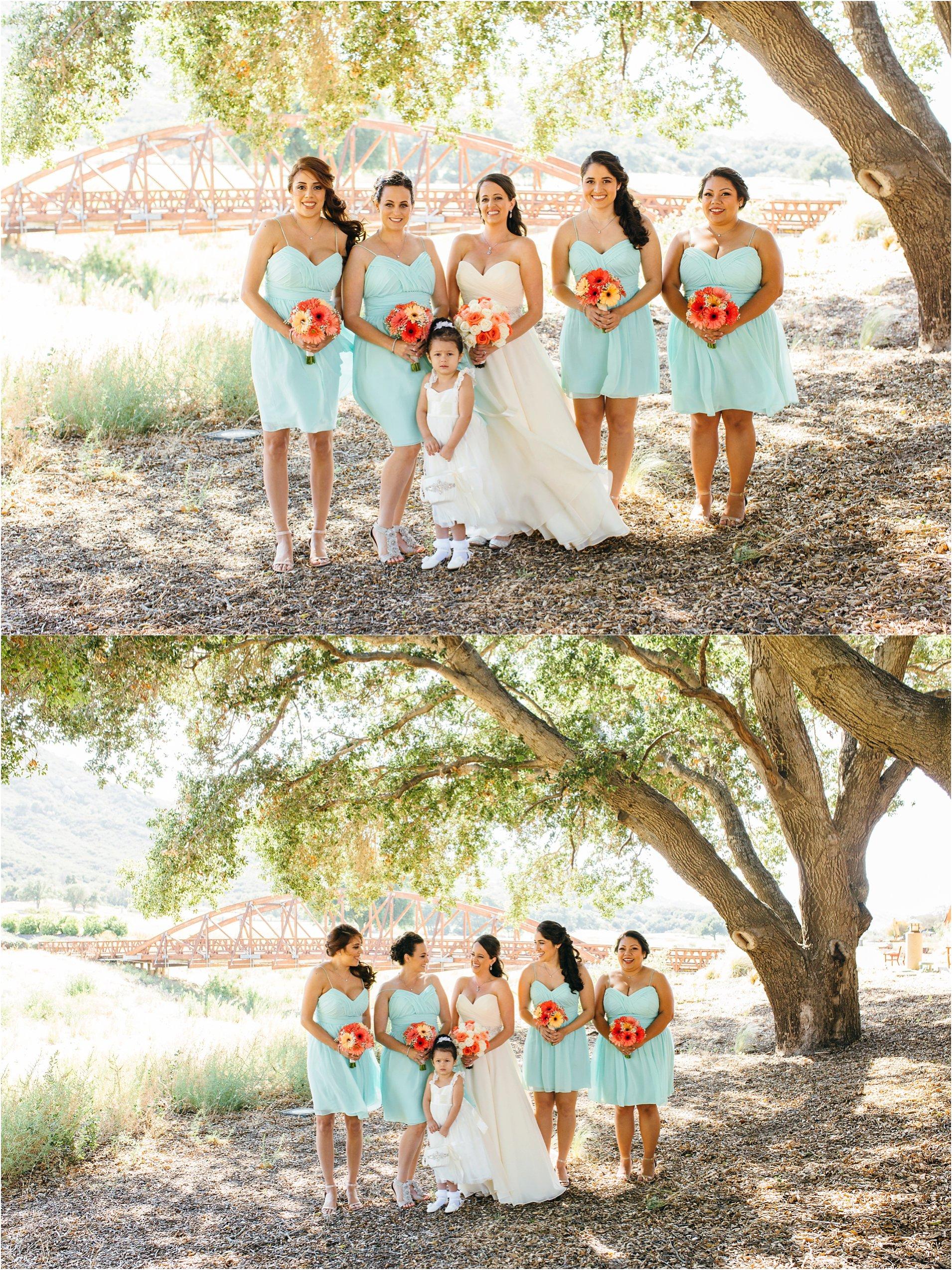 bride and bridesmaids photos in temecula