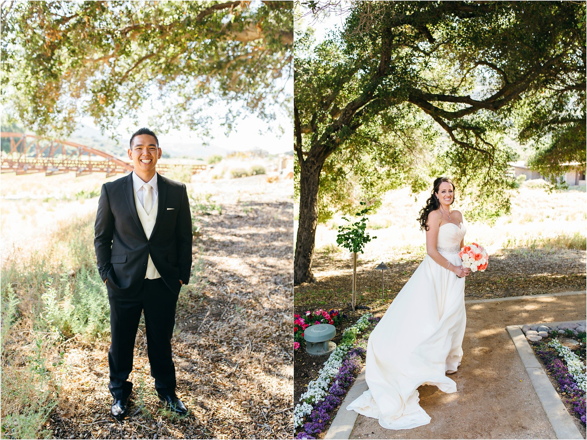 bride and groom photos at journey's end