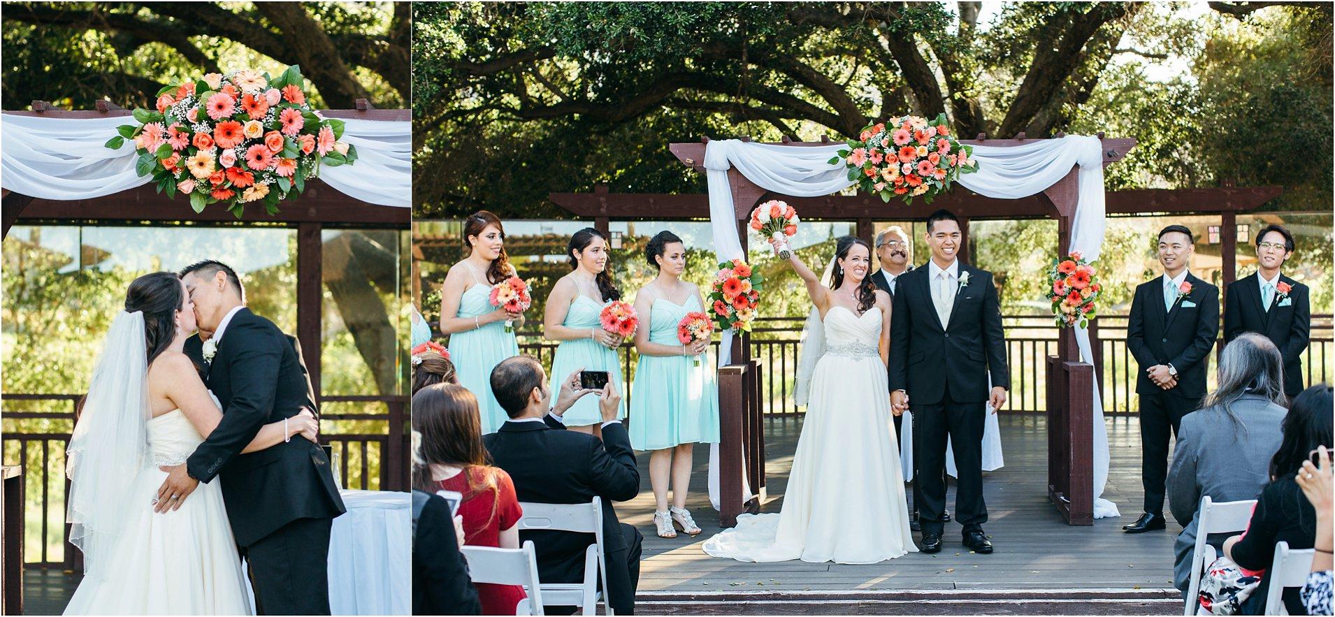 bride and groom wedding ceremony in temecula