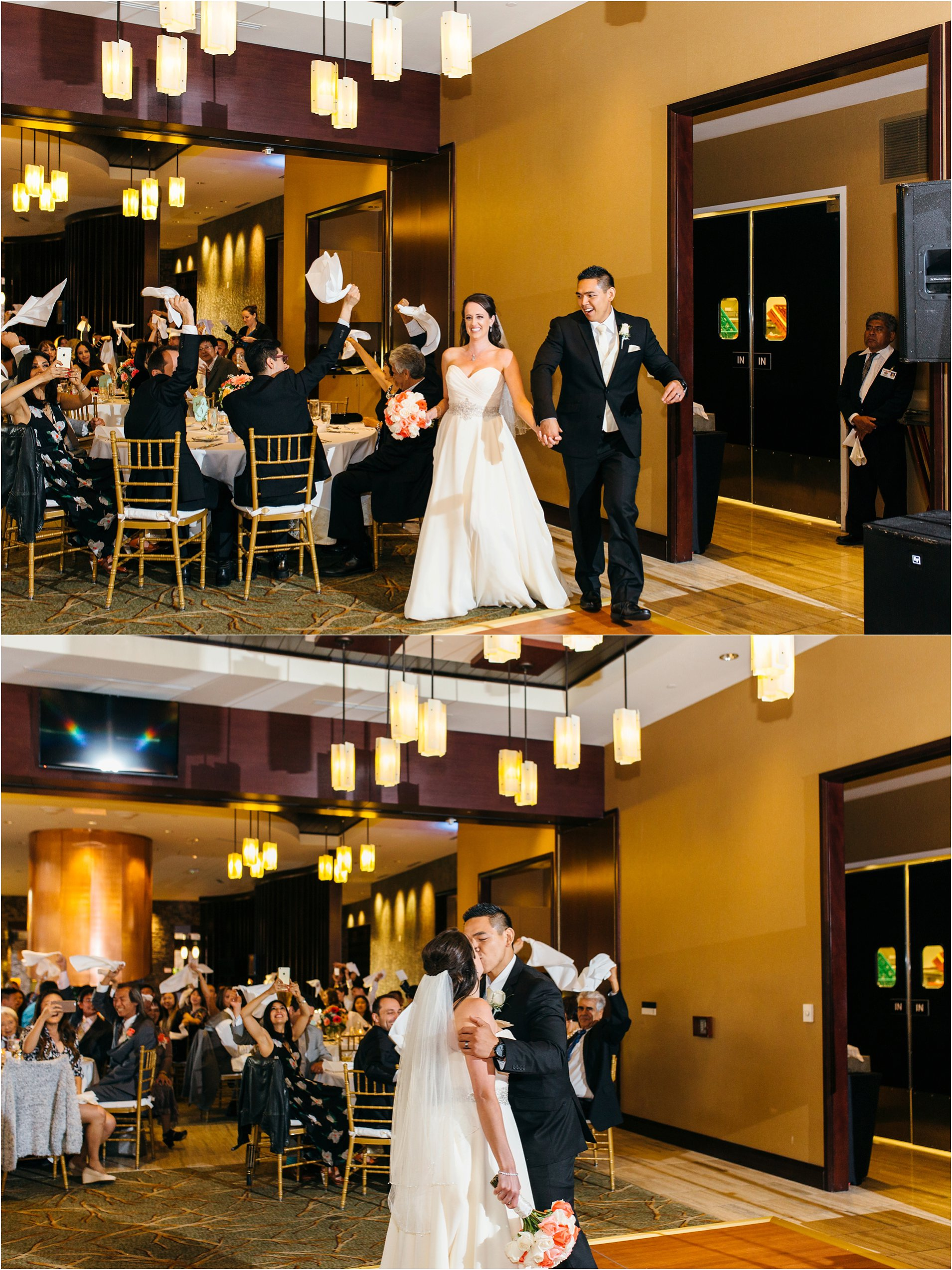 grand entrance into reception at journeys end