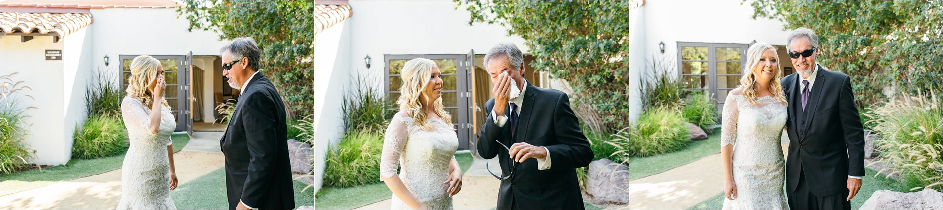 Bride does an emotional First Look with her Father