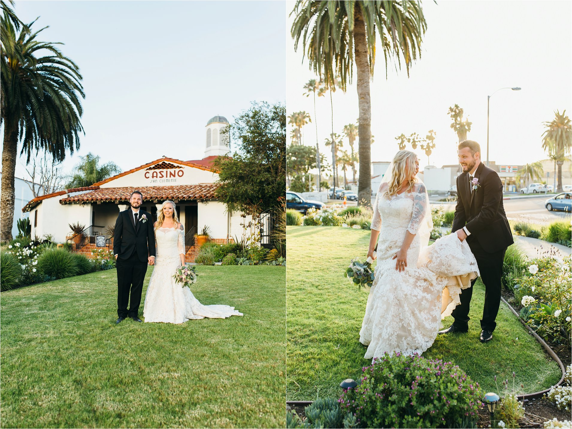 The Casino bride and groom in San Clemente, CA
