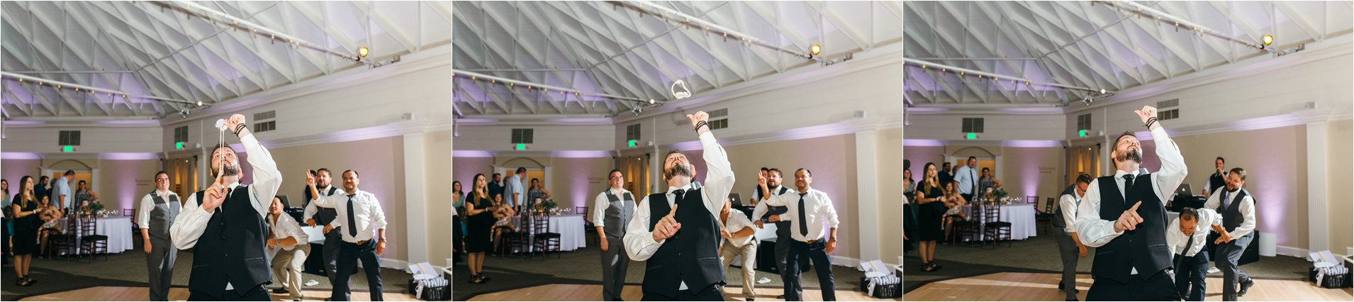 Orange County Wedding - Garter Toss