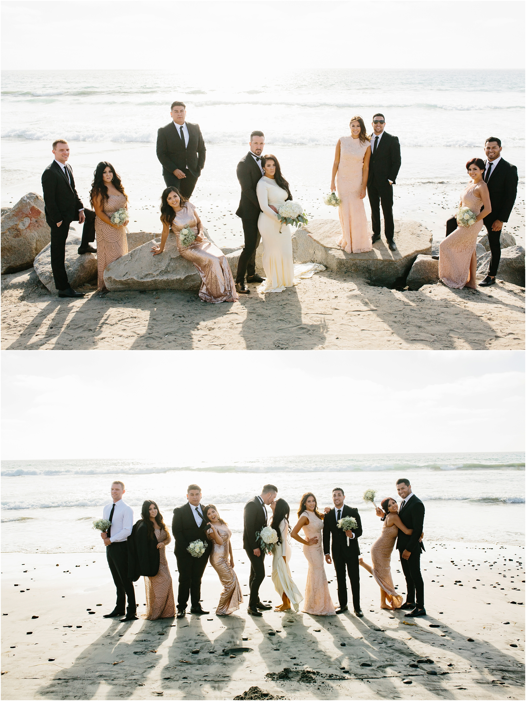 Beach Bridal Party Photos - https://brittneyhannonphotography.com