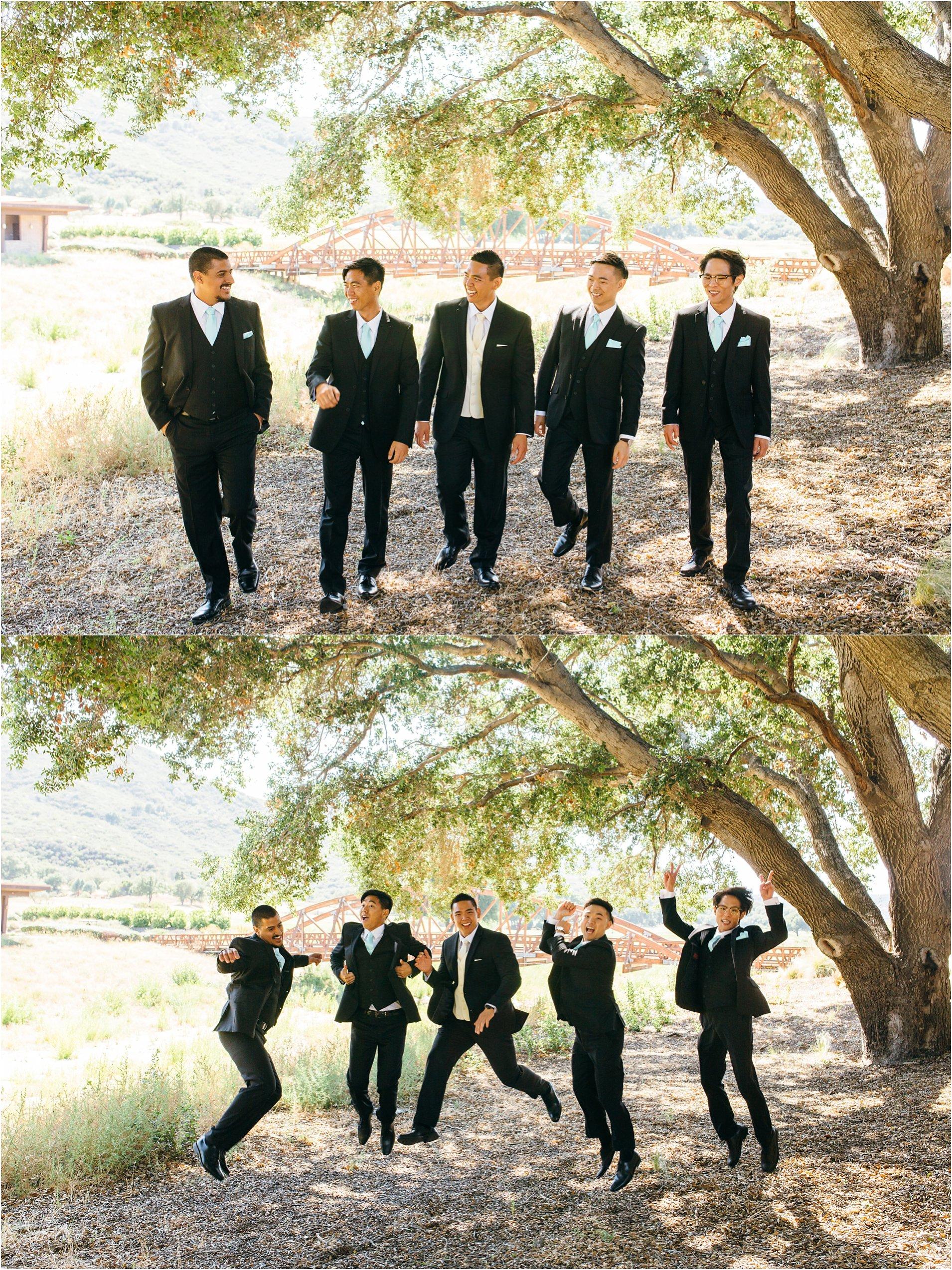 groomsmen photos in southern california
