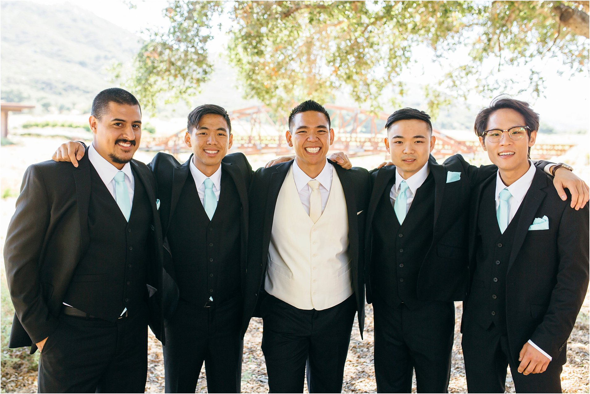 groom and groomsmen photos in southern california