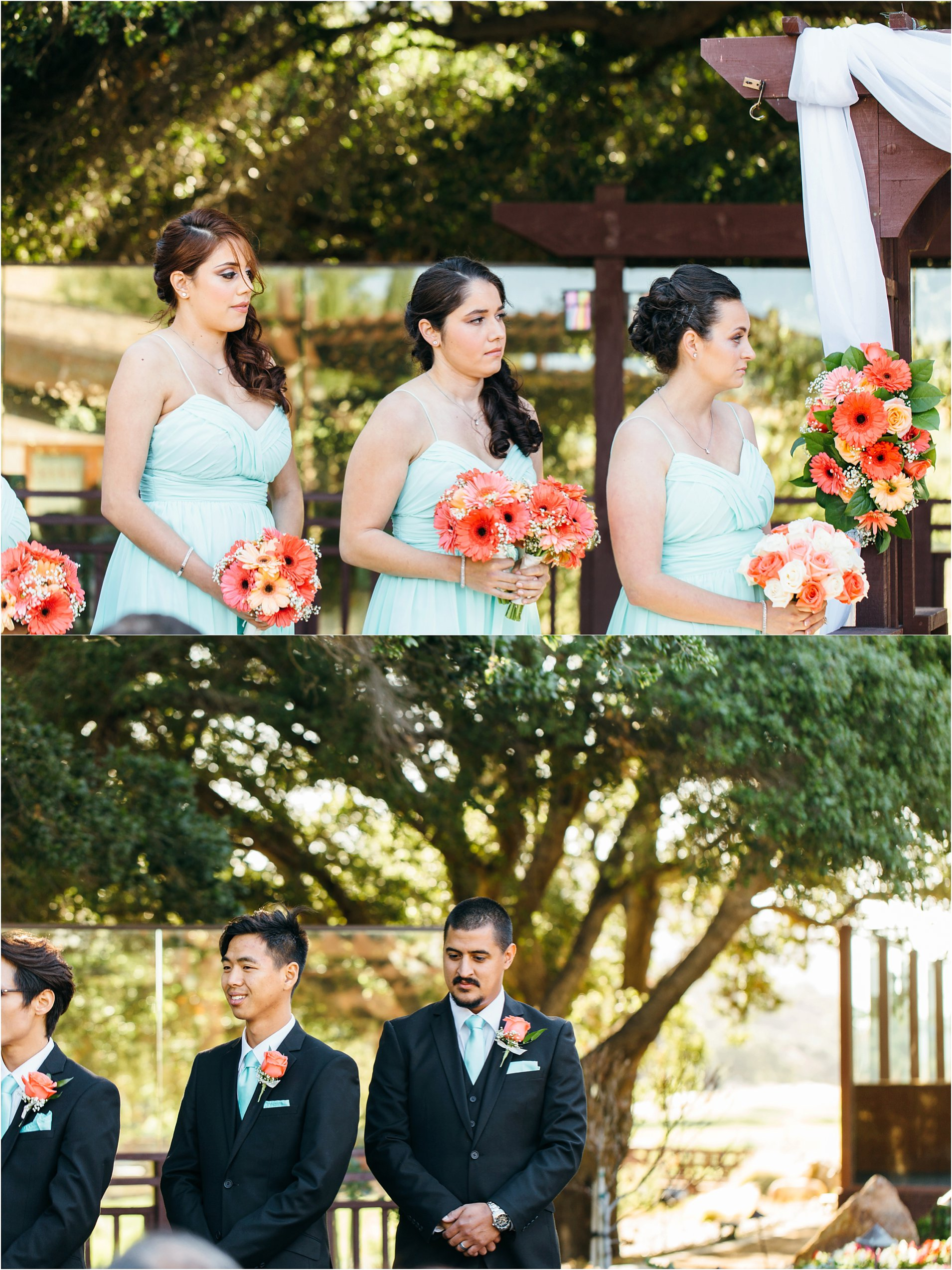 bridal party during ceremony