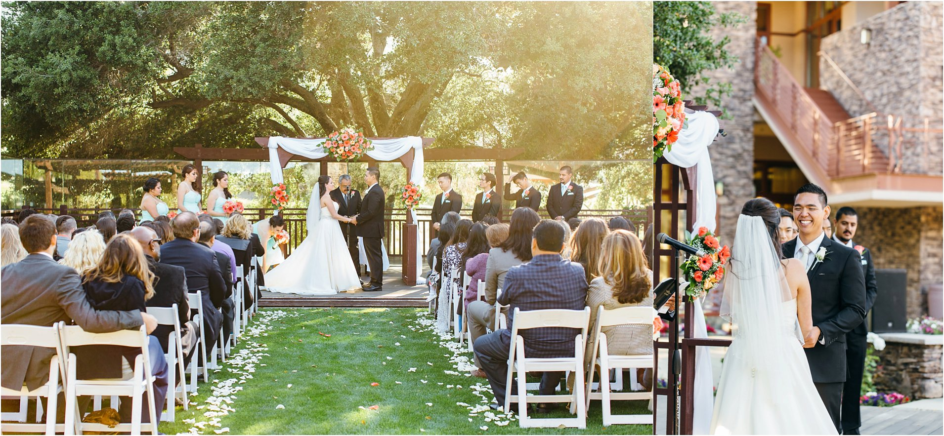 wedding ceremony at journeys end