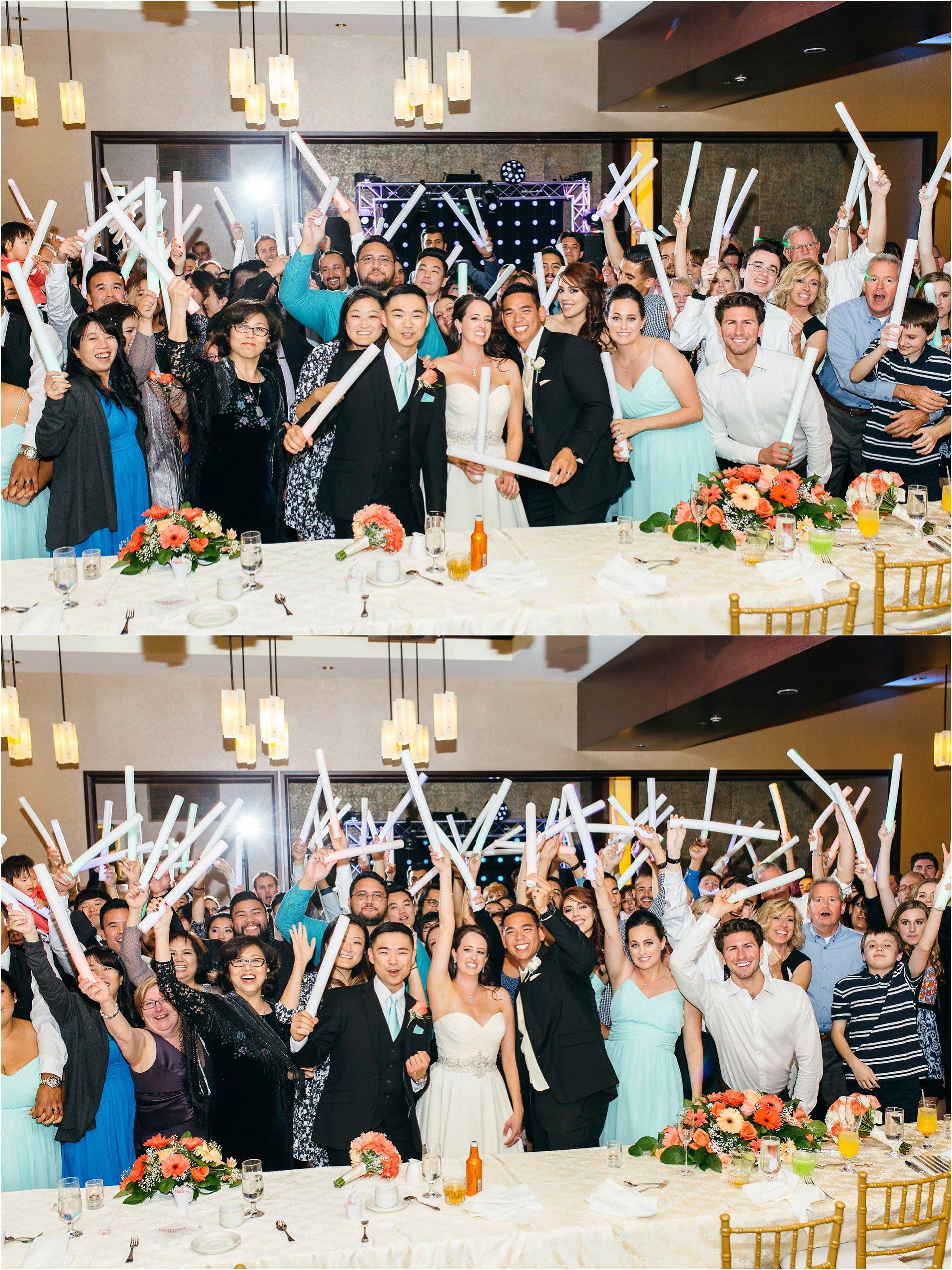 wedding guests during reception at pechanga