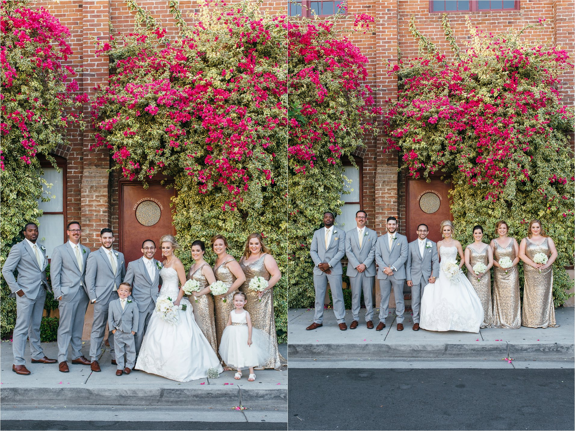 Mitten Building Wedding - Bridal Party Photos