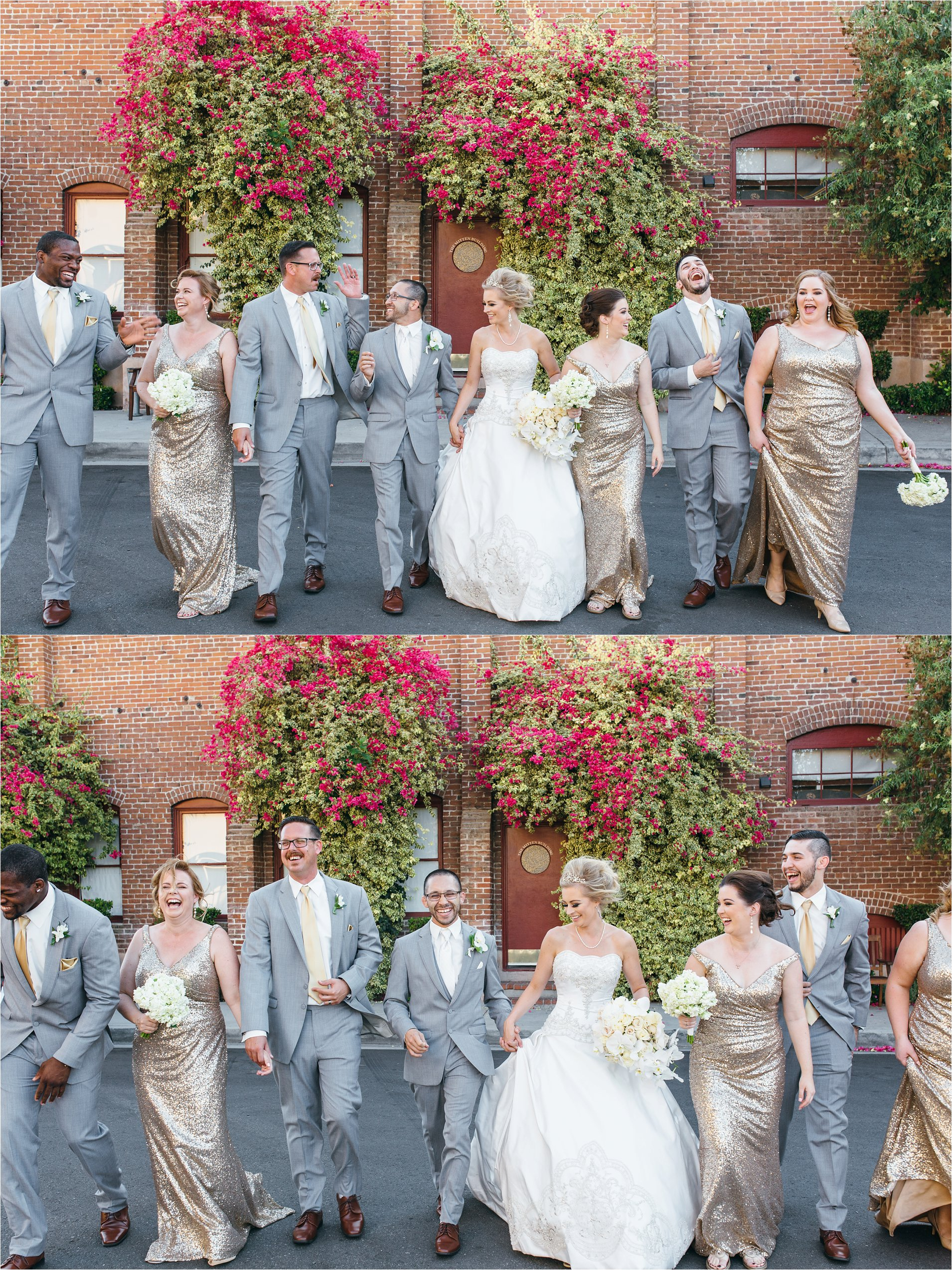 Bridal Party - Mitten Building Wedding - Redlands Wedding Photographer