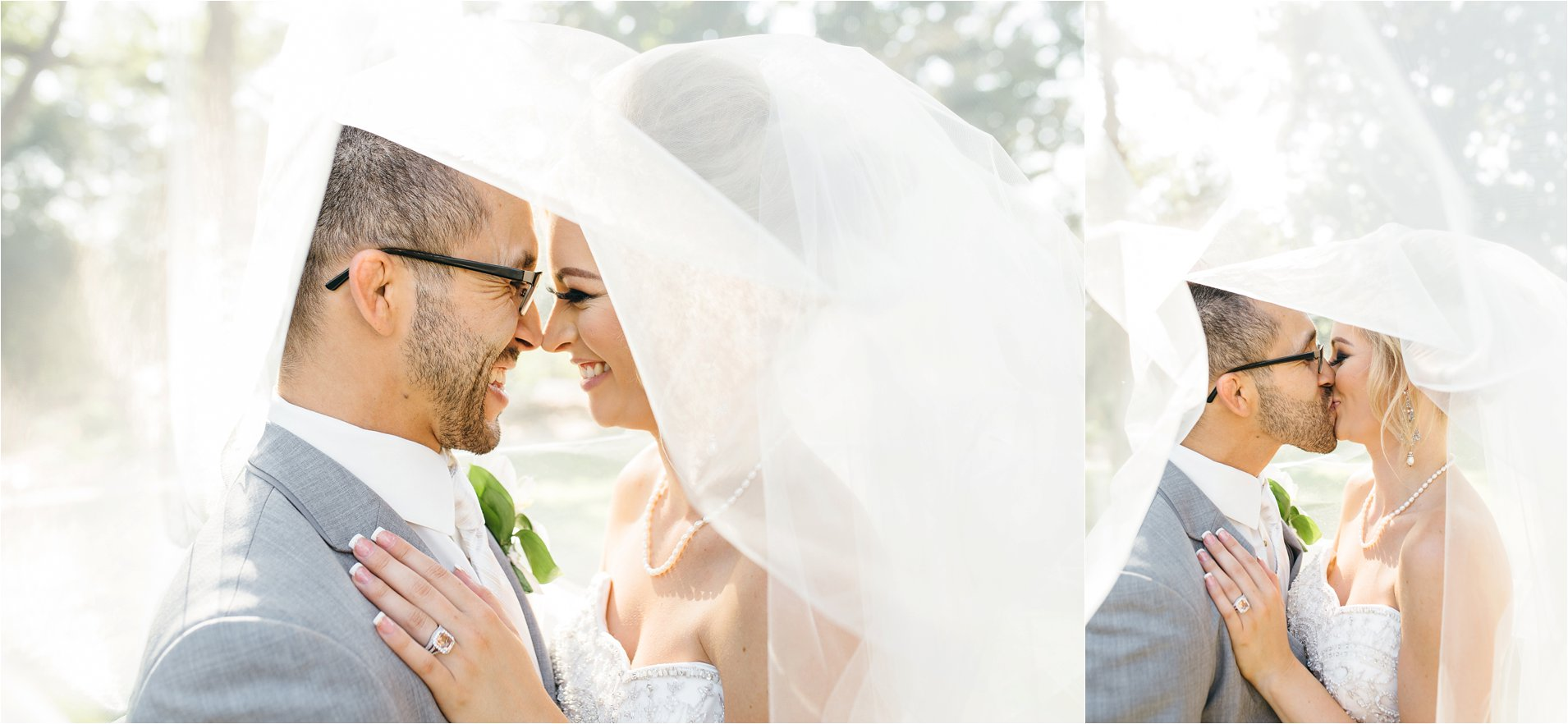 Bride and Groom Veil Photos - Redlands Wedding Photographer