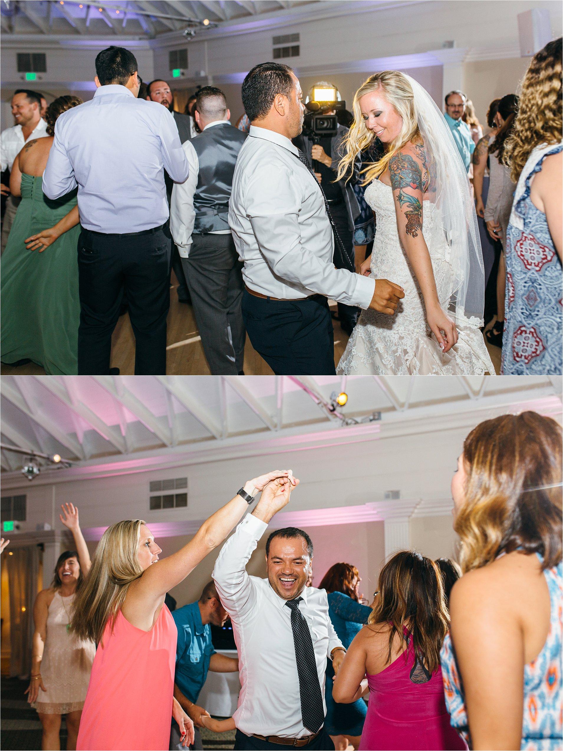 Guests Dancing at San Clemente Wedding