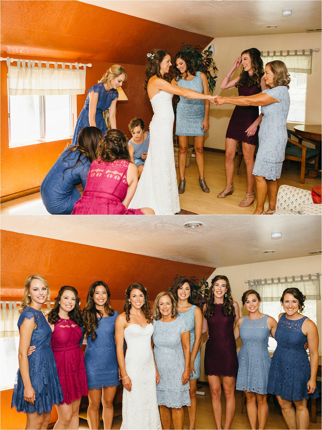 Bride & Bridesmaids - Mountain Wedding - Cabin Wedding - https://brittneyhannonphotography.com