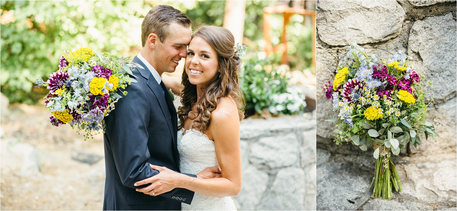 Romantic Wedding Photos in the Mountains - Mountain Wedding in California - https://brittneyhannonphotography.com