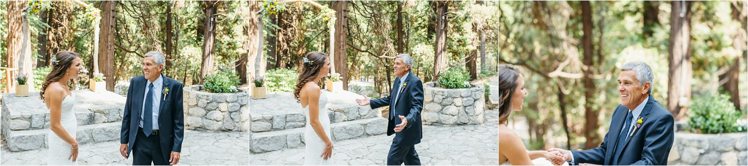 Bride's First Look with her Dad - Mountain Wedding - https://brittneyhannonphotography.com