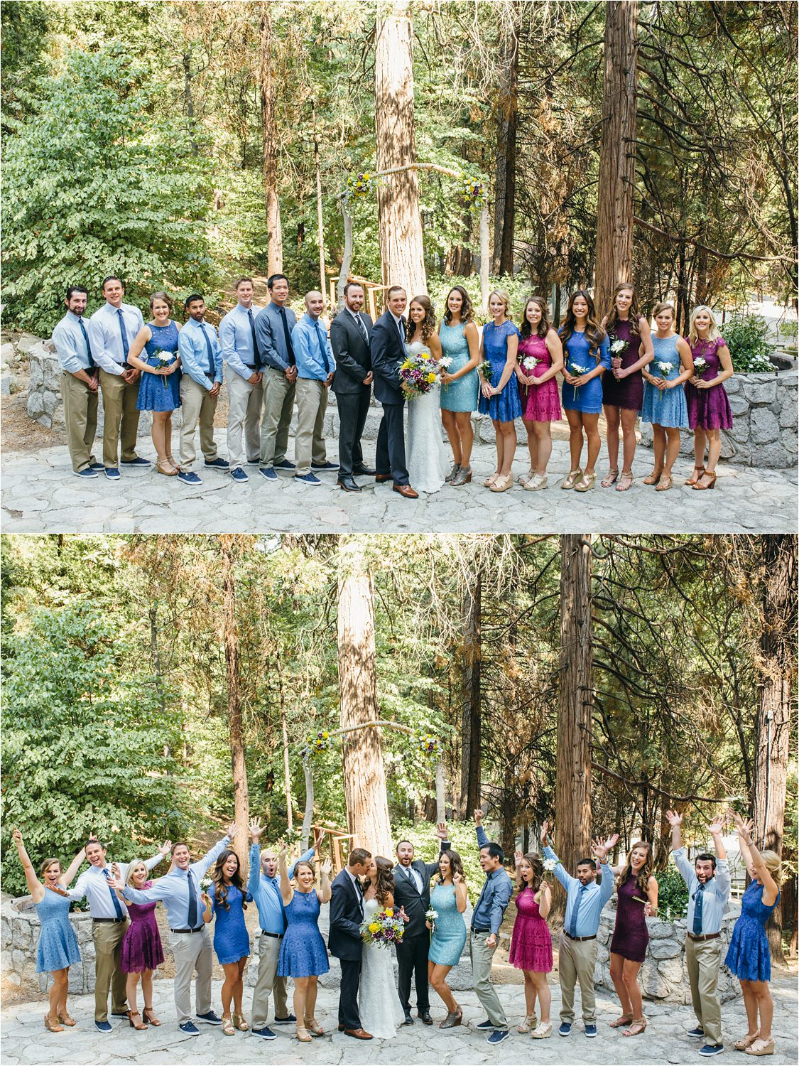 Bridal Party Photos in the Mountains - Best Friends - https://brittneyhannonphotography.com