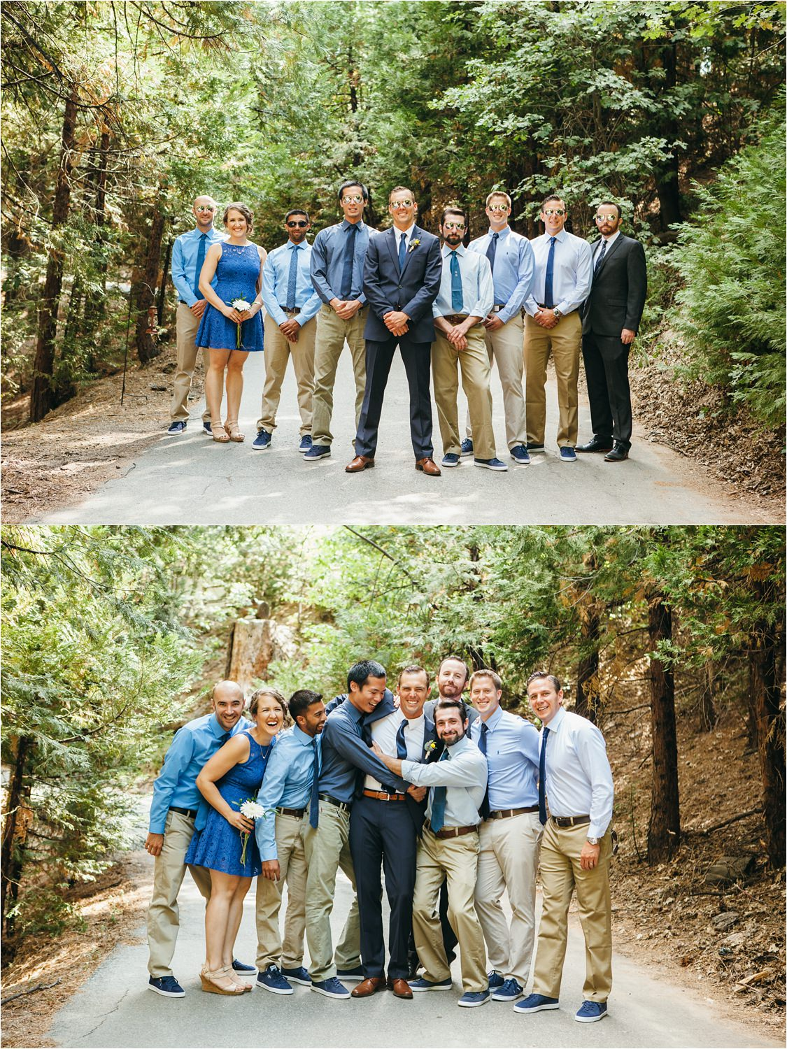 Groom and Groomsmen - Mountain Wedding in California - Destination Wedding - https://brittneyhannonphotography.com