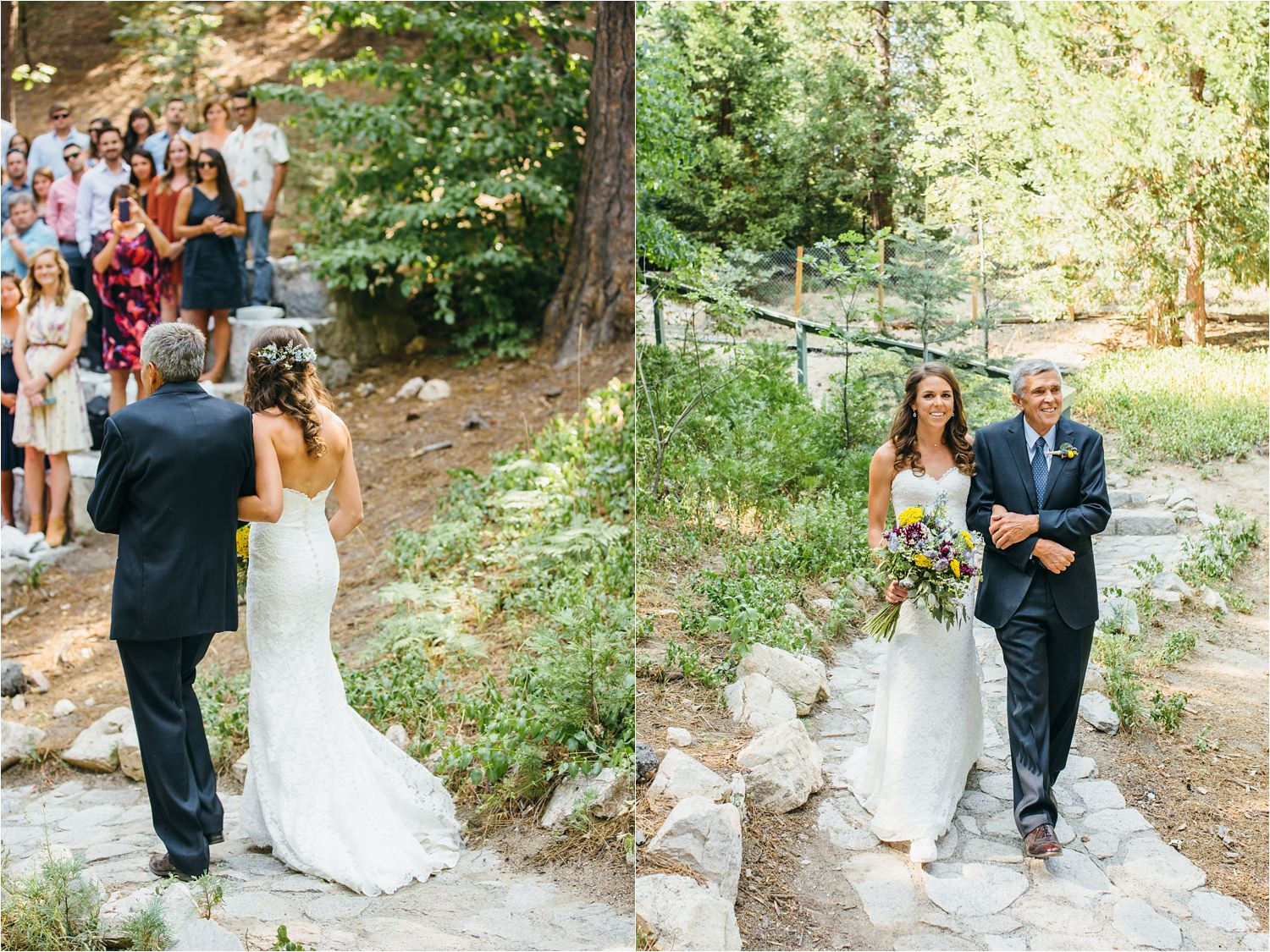 Mountain Bride - Bride Walking Down the Aisle - Wedding Ceremony Ideas - Adventurous Bride - https://brittneyhannonphotography.com