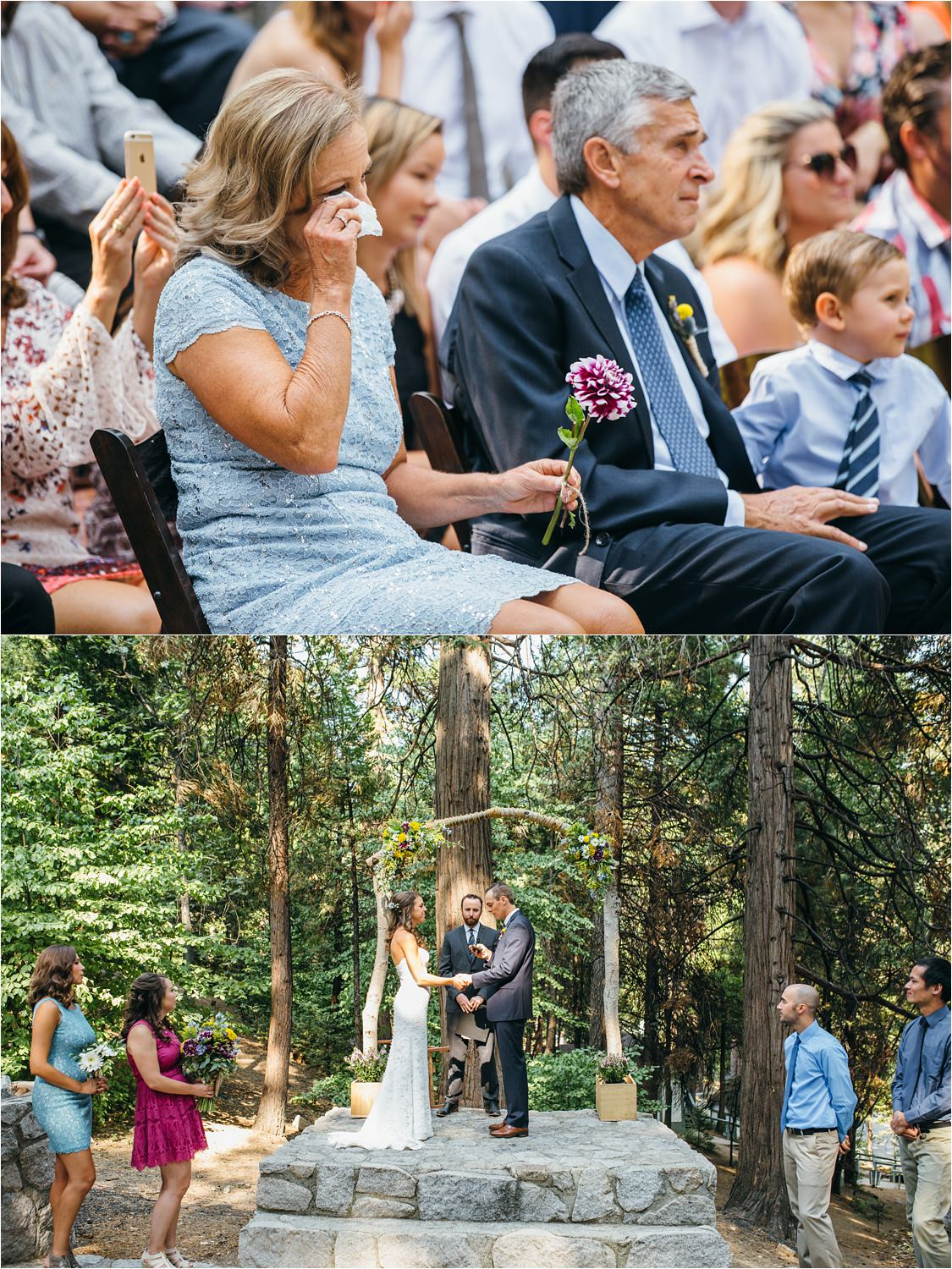 Emotional Wedding Ceremony - Mountain Wedding - Mountainside Wedding Ceremony - https://brittneyhannonphotography.com
