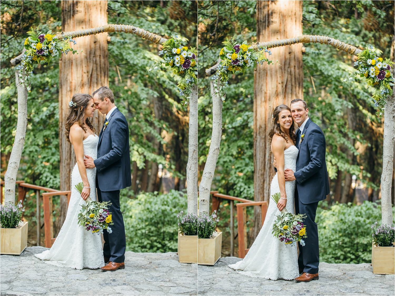 Mountain Bride and Groom - Wedding in the Mountains - Lake Arrowhead Wedding Photographer - https://brittneyhannonphotography.com