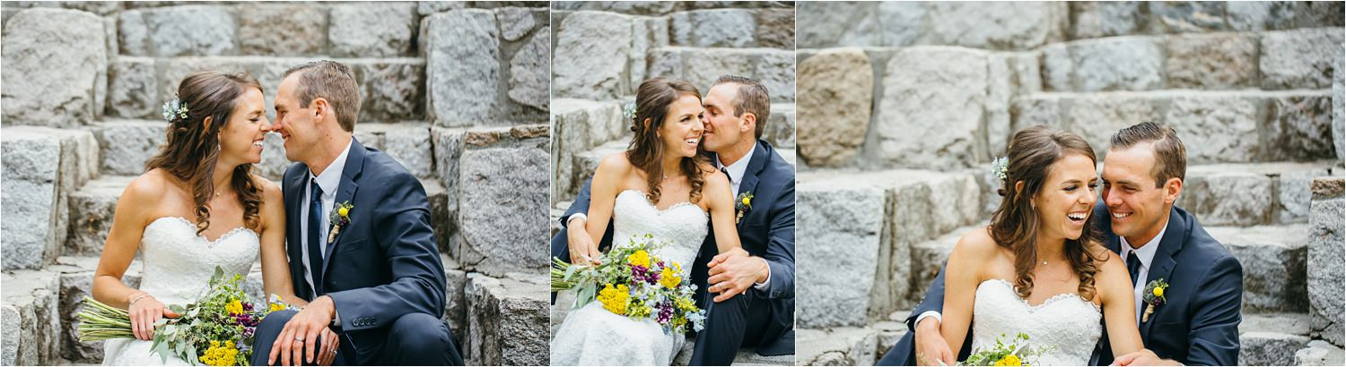 Super cute and cozy Bride and Groom Photos - Husband and Wife Snuggles - Wedding Day - https://brittneyhannonphotography.com