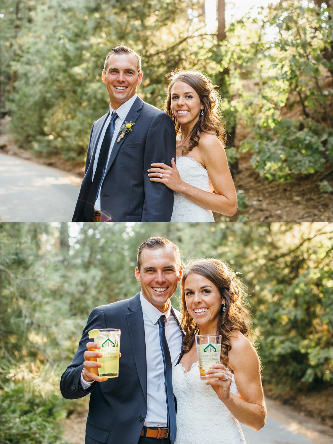 Summer Camp Wedding - Summer Camp Themed Wedding in the Mountains of Lake Arrowhead, CA - https://brittneyhannonphotography.com