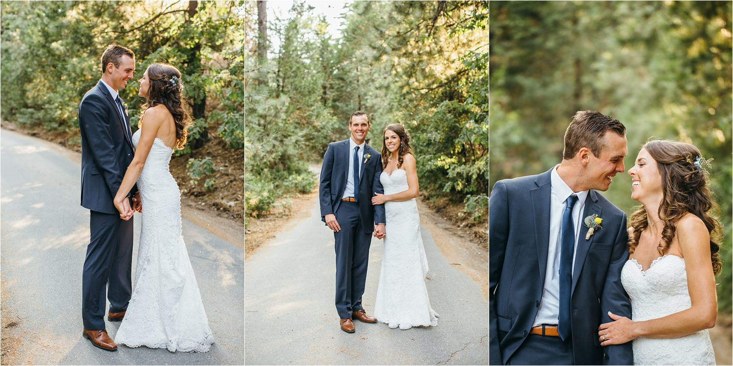 Sweet Love - Bride and Groom Wedding Photos in the Mountainside - https://brittneyhannonphotography.com