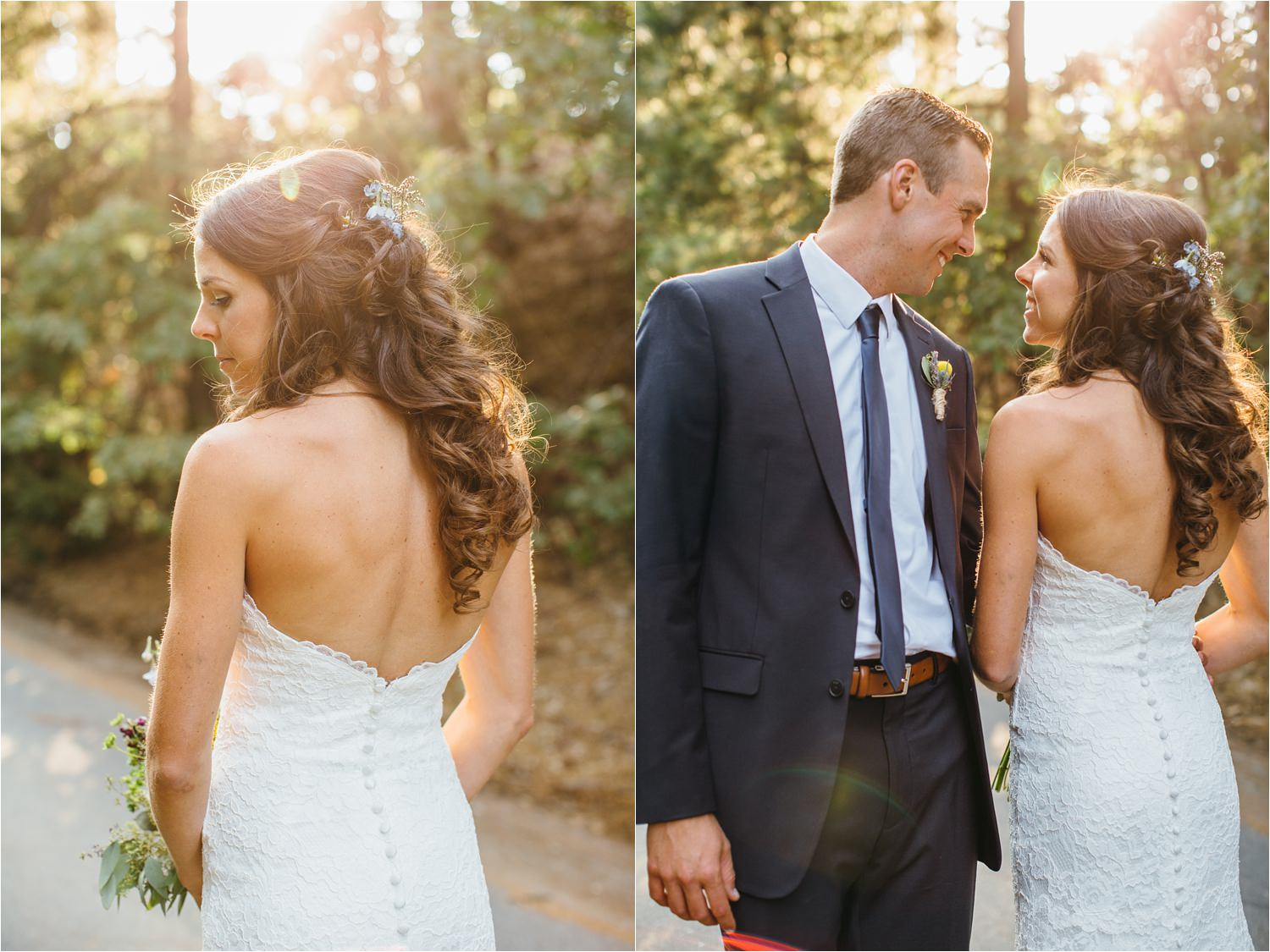 Golden Hour Sunset Photos - Bride and Groom Mountain Wedding - Lake Arrowhead, CA - https://brittneyhannonphotography.com