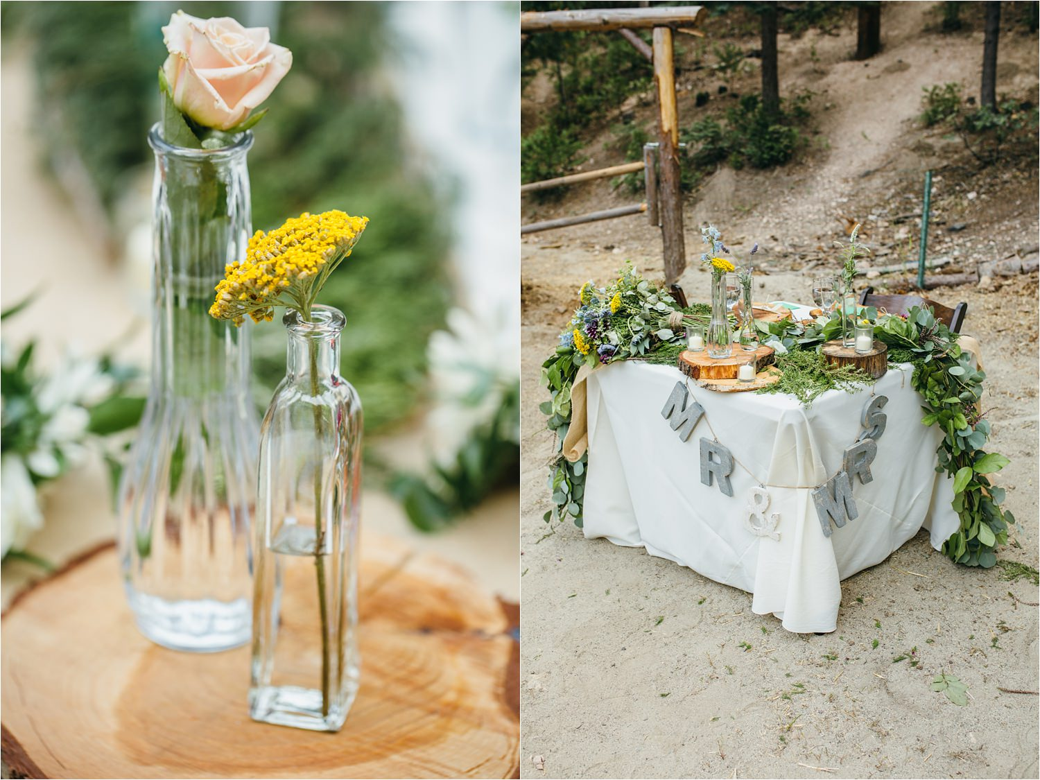 Rustic Wedding Decor - Mountain Wedding Decor - DIY Wedding Details - Mountain Wedding Ideas - https://brittneyhannonphotography.com