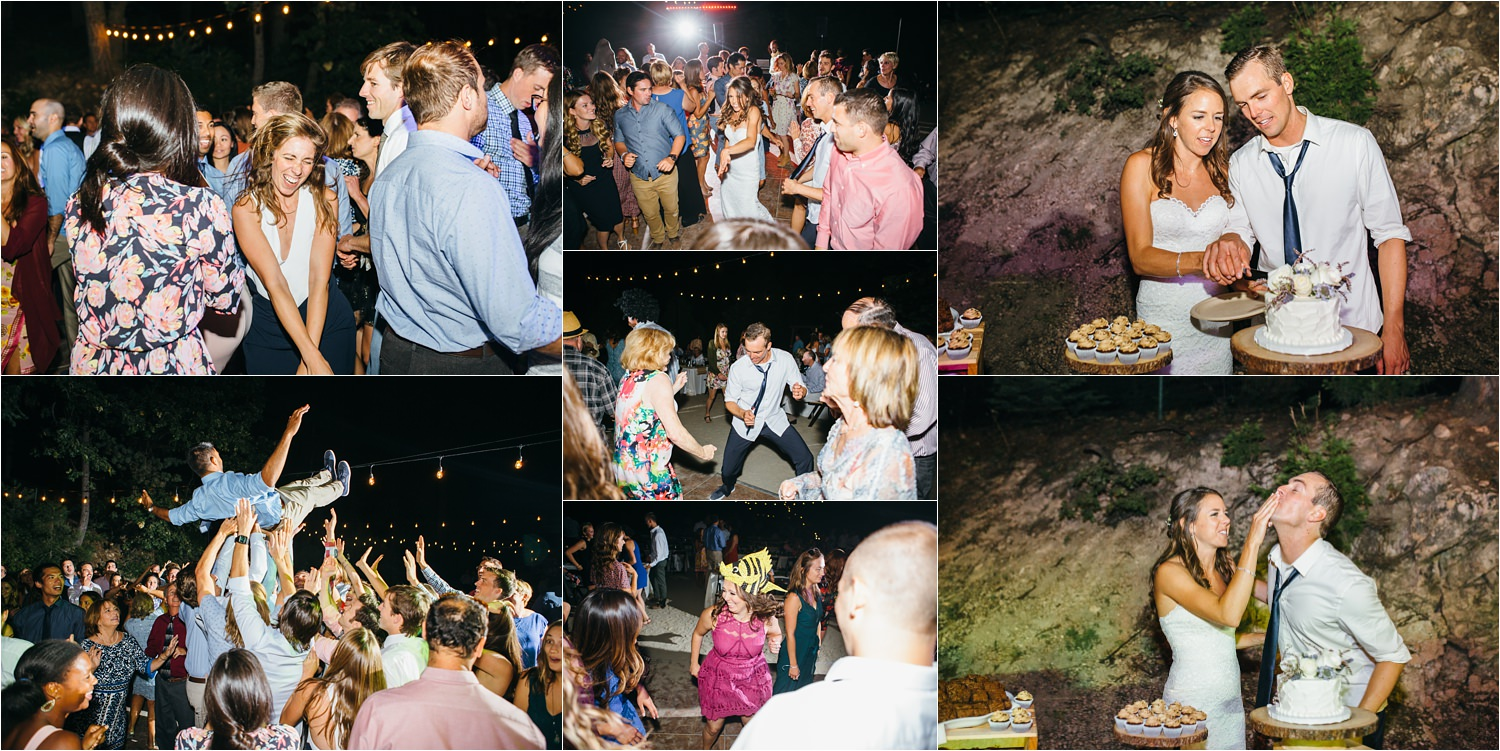 Dance the night away under the stars - wedding in the mountains - mountain wedding - https://brittneyhannonphotography.com