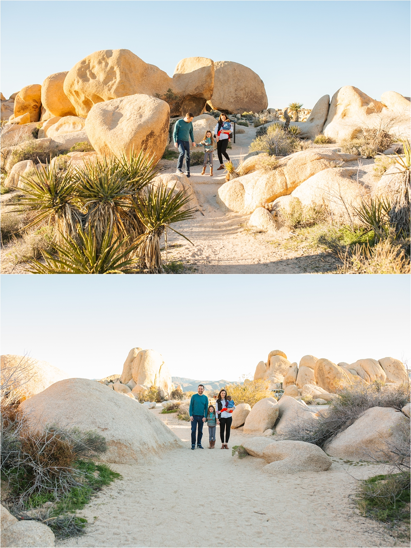 Adventurous Family Photos in Joshua Tree - Desert Family Photos - https://brittneyhannonphotography.com