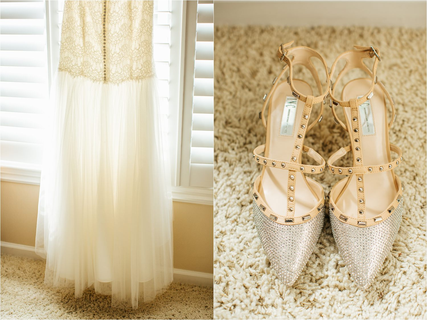 Wedding Shoes & David's Bridal Wedding Dress - http://brittneyhannonphotography.com