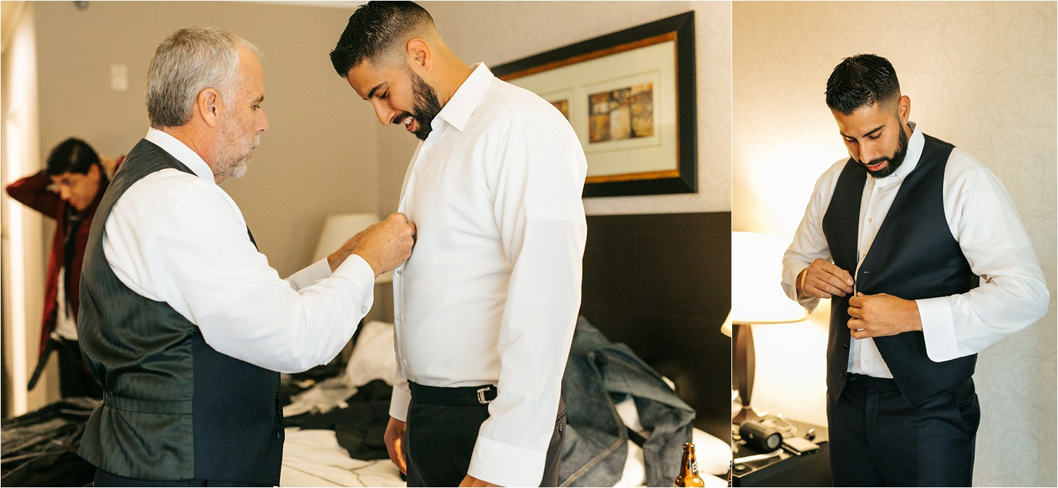 Groom getting ready before Wedding Ceremony - http://brittneyhannonphotography.com