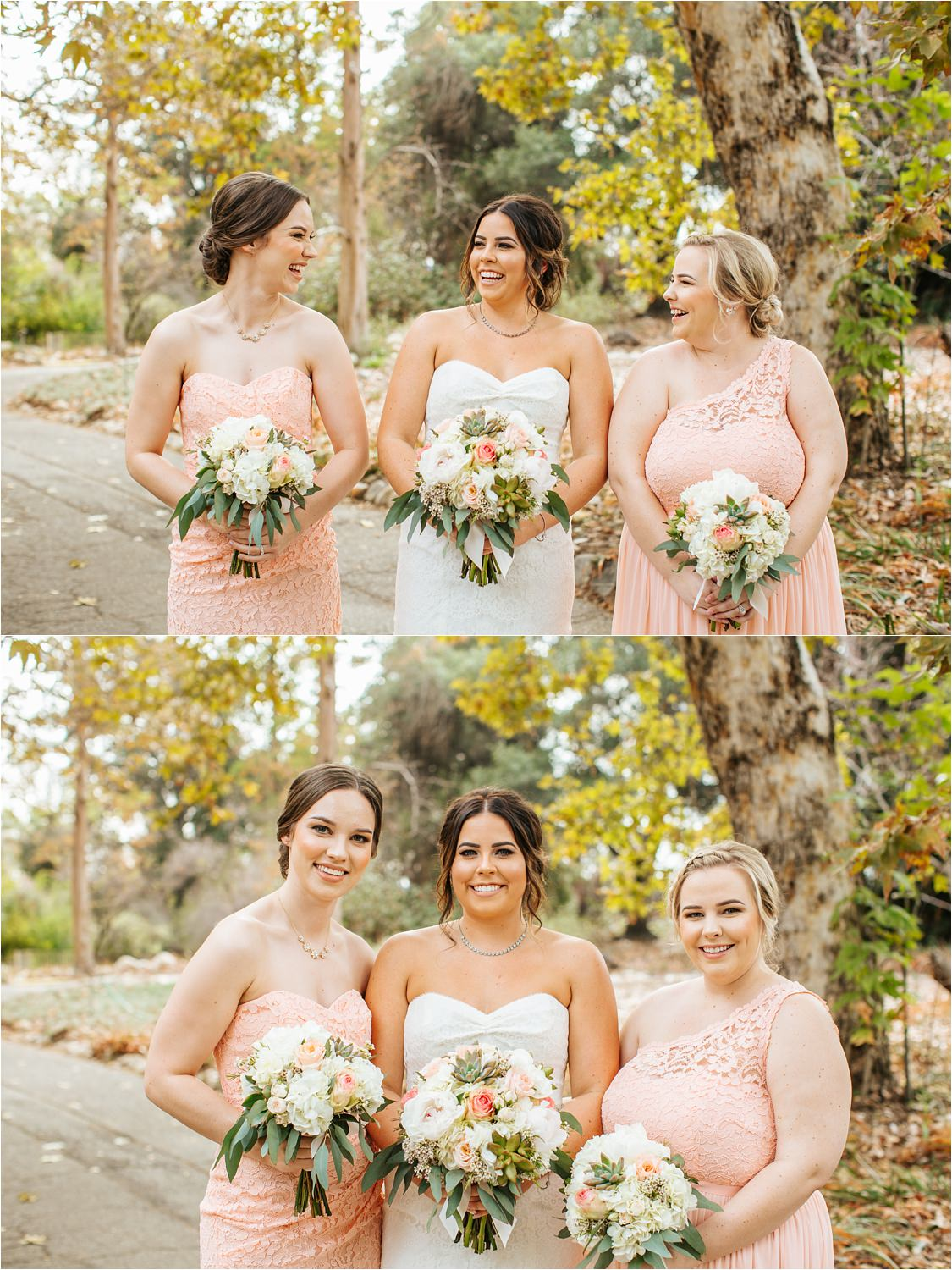 Bride and Bridesmaids - Fall Wedding - Southern California Fall Wedding - http://brittneyhannonphotography.com