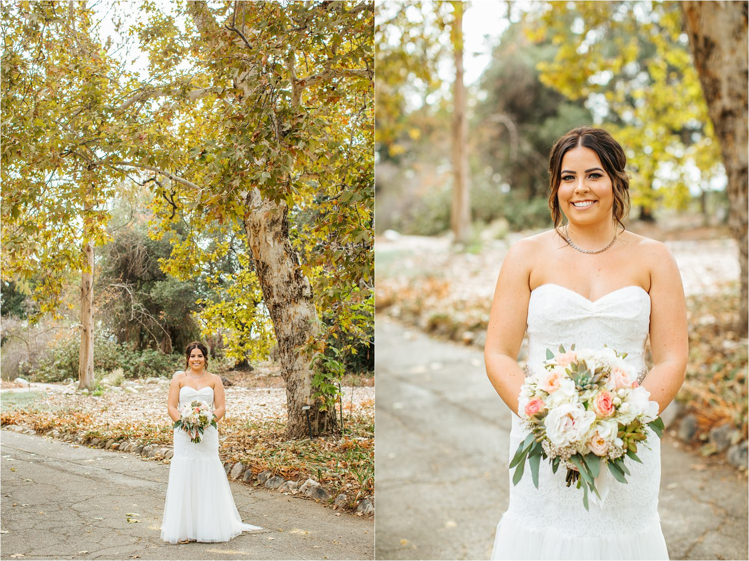 Beautiful Fall Bride - October Bride - Claremont Wedding Photographer - http://brittneyhannonphotography.com