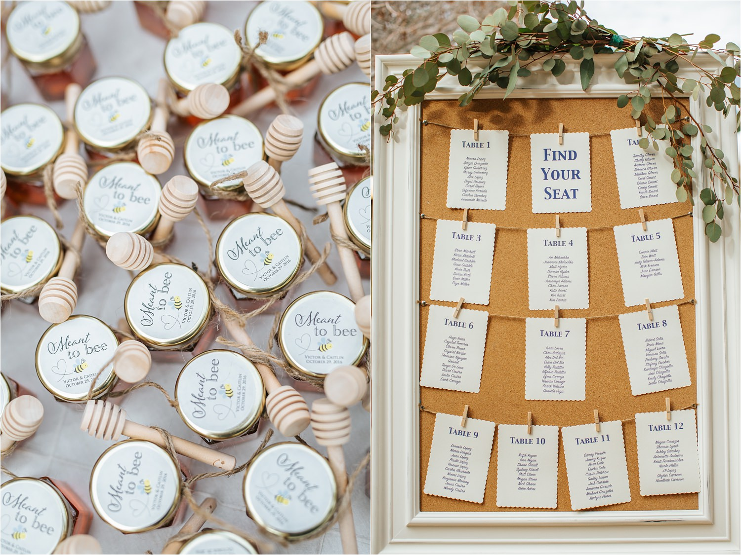 Wedding Seating Charts - http://brittneyhannonphotography.com