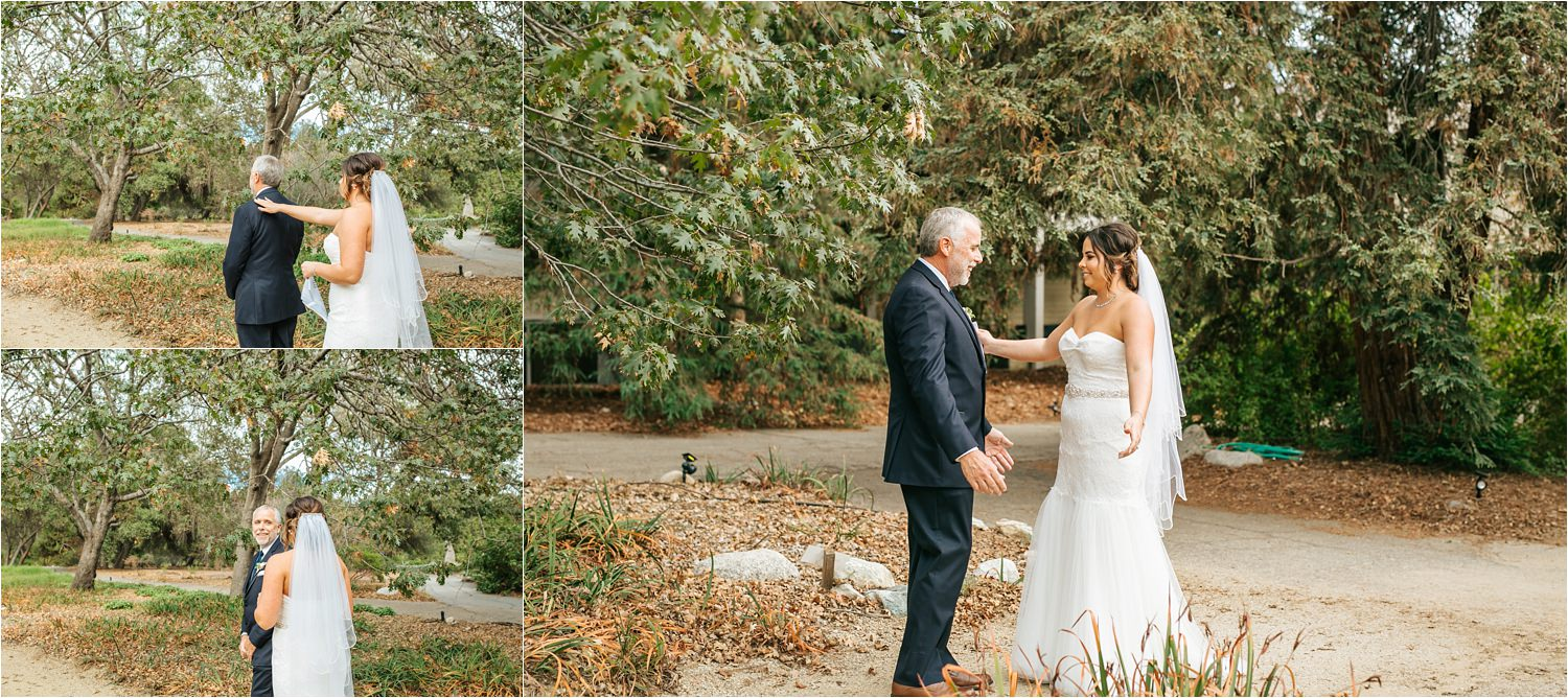Father and Daughter First Look - Bride and Dad First Look - http://brittneyhannonphotography.com