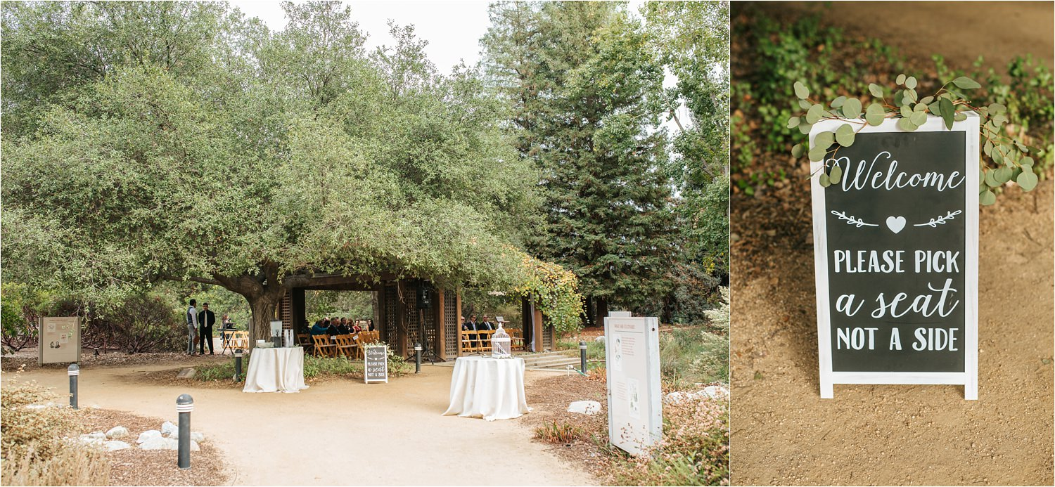 Wedding Ceremony Details - Nature Wedding - Botanic Garden Wedding - http://brittneyhannonphotography.com
