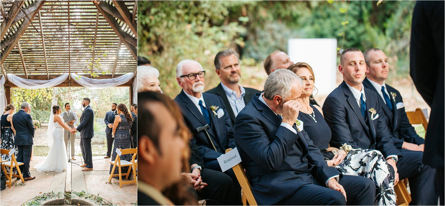 Romantic October Botanic Garden Wedding Ceremony - http://brittneyhannonphotography.com