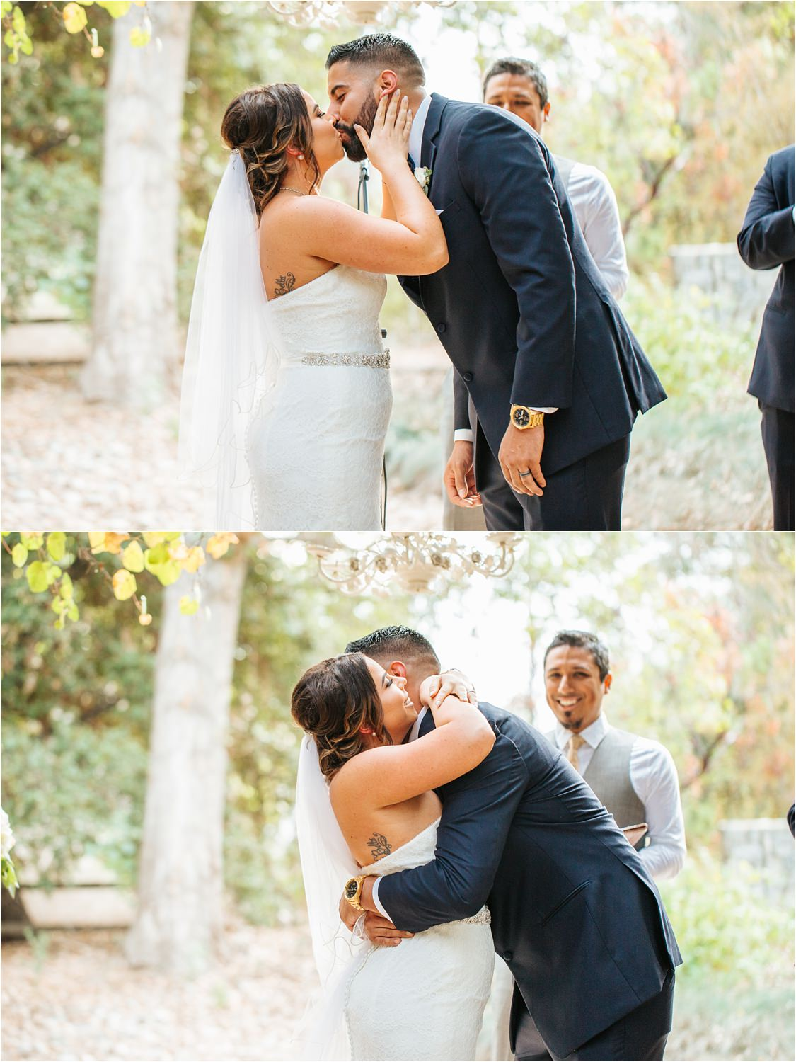 I do - Bride and Groom kiss at the altar - http://brittneyhannonphotography.com